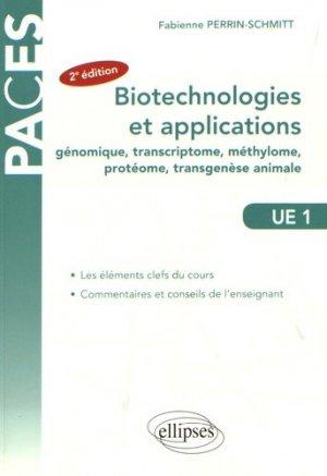 Biotechnologies et applications (génie génétique) - ellipses - 9782340016385 - biologie cellulaire, biologie moléculaire, embryologie, histologie, immunologie