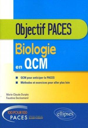 Biologie en QCM - ellipses - 9782340021051 -