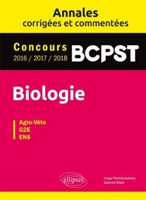 Biologie BCPST - Annales corrigées et commentées - ellipses - 9782340025813 -