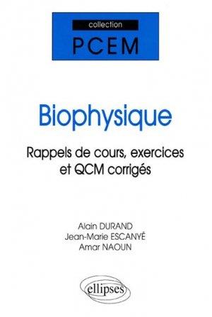 Biophysique - ellipses - 9782729813055 -