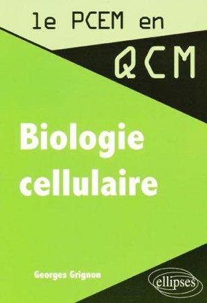 Biologie cellulaire - ellipses - 9782729816018 -