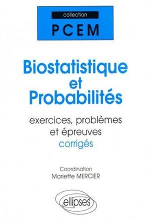 Biostatistique et probabilités - ellipses - 9782729856458 -
