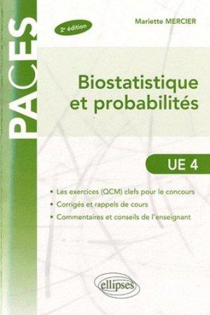 Biostatistique et probabilités - ellipses - 9782729865160 -