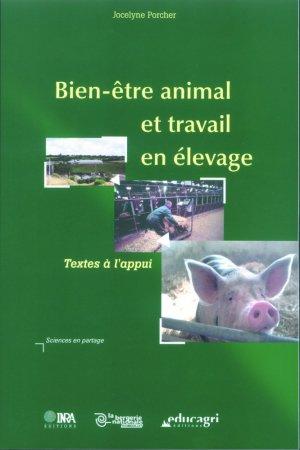 Bien-être animal et travail en élevage Textes à l'appui - educagri / inra - 9782738011657 -