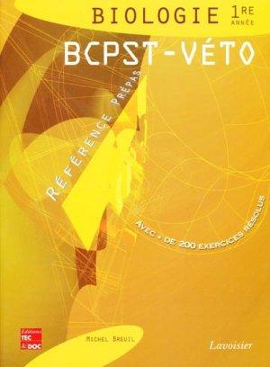 Biologie 1ère année BCPST - VÉTO - lavoisier / tec et doc - 9782743009021 -