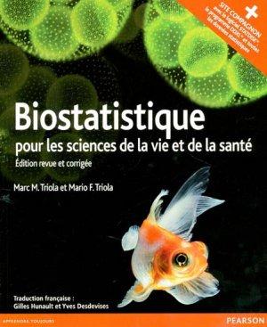 Biostatistique pour les sciences de la vie et de la santé - pearson - 9782744076572 -