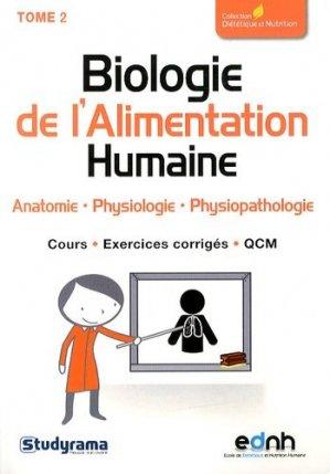 Biologie de l'Alimentation Humaine Tome 2 - studyrama - 9782759020232 -