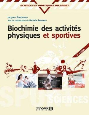 Biochimie des activités physiques et sportives - de boeck superieur - 9782807306486