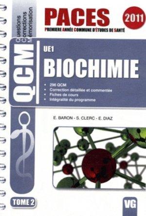 Biochimie Tome 2  UE1 - vernazobres grego - 9782818303450 -