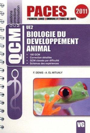 Biologie du Développement Animal  UE 2 - vernazobres grego - 9782818303481 -