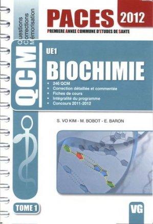 Biochimie UE1 Tome1 - vernazobres grego - 9782818306147 - chimie organique, chimie générale, biochimie,