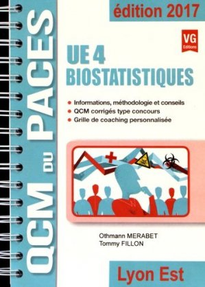Biostatistiques UE4 - Lyon est - vernazobres grego - 9782818315378 -