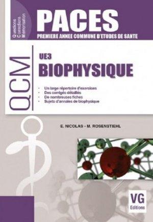 Biophysique UE 3 - vernazobres grego - 9782818315392 -