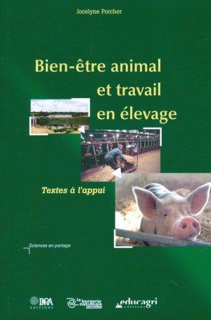 Bien-être animal et travail en élevage - educagri - 9782844443113 -