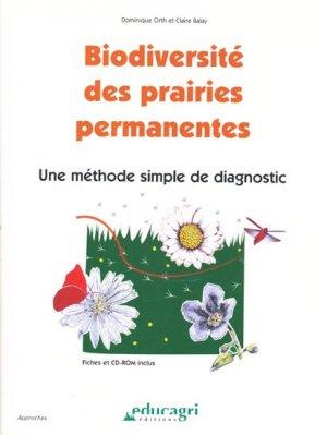 Biodiversité des prairies permanentes - educagri - 9782844448002 -