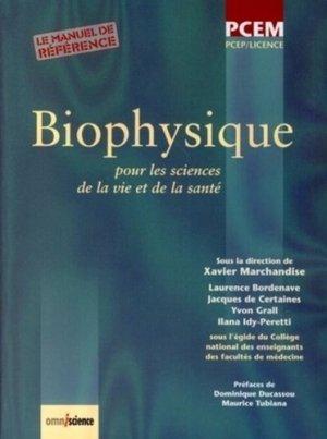 Biophysique pour les sciences de la vie et de la santé - omniscience - 9782916097060
