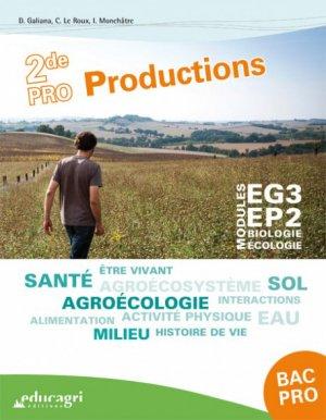 Biologie-Ecologie 2de Bac pro Productions - educagri - 9791027501250 -