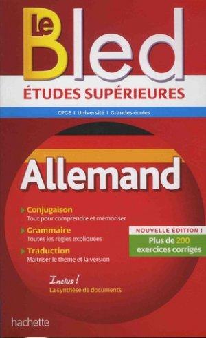 BLED ETUDES SUPERIEURES ALLEMAND  - hachette - 9782017025931 -