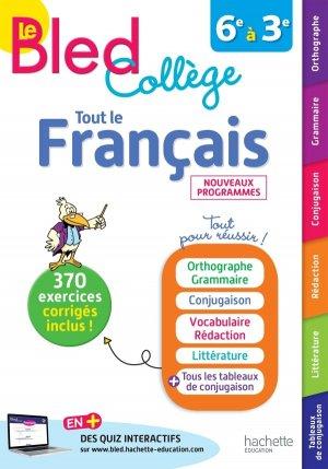 Bled Français Collège - hachette - 9782017081937 -