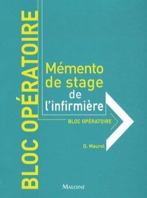 Bloc Opératoire - maloine - 9782224032258