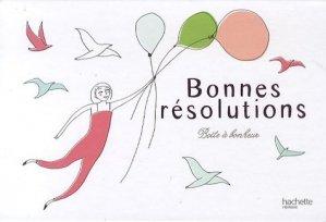 Boîte à bonheur : Bonnes résolutions - Hachette - 9782012371453 -