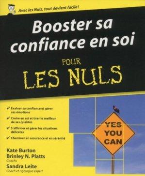 Booster sa confiance en soi pour les nuls - Editions First - 9782754064705 -