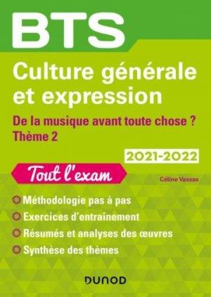 BTS Culture générale et Expression 2021/2022 - A toute vitesse/De la musique avant toute chose - Dunod - 9782100826148 -