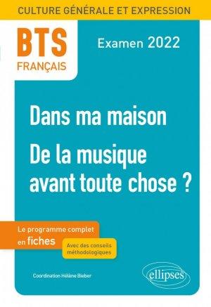 BTS Français -  Examen 2022 - Ellipses - 9782340048454 -