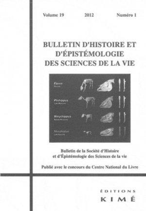 Bulletin d'histoire et d'épistémologie...19/1 - Editions Kimé - 9782841745913 -