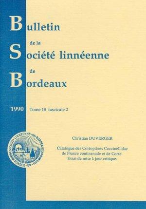 Catalogue des Coléoptères Coccinellidae de France continentale et de Corse - societe linneene de bordeaux - 2223588652272 -