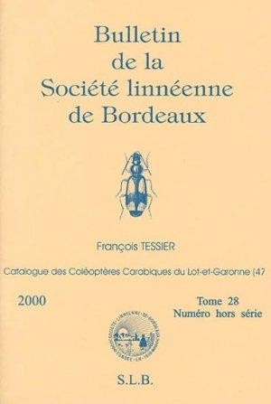 Catalogue des Coléoptères Carabiques du Lot-et-Garonne - societe linneene de bordeaux - 2223588652371 -