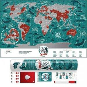 Carte à gratter Marine World 40 X 60 CM - 1DEA.ME - 4820191130203 -