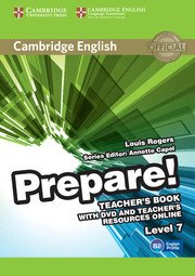 Cambridge English Prepare! Level 7 - Teacher's Book with DVD and Teacher's Resources Online - cambridge - 9780521180399 -