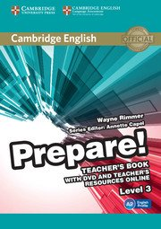 Cambridge English Prepare! Level 3 Teacher's Book with DVD and Teacher's Resources Online - cambridge - 9780521180566 -