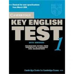 Cambridge Key English Test 1 - Student's Book with Answers Examination Papers from the University of Cambridge ESOL Examinations - cambridge - 9780521528085 -