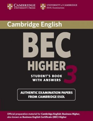 Cambridge BEC Higher 3 - Student's Book with Answers - cambridge - 9780521672030 -