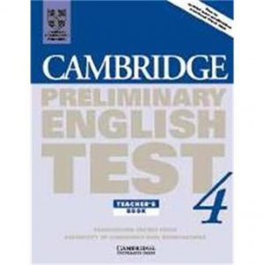 Cambridge Preliminary English Test 4 - Teacher's Book Examination Papers from the University of Cambridge ESOL Examinations - cambridge - 9780521755290 -