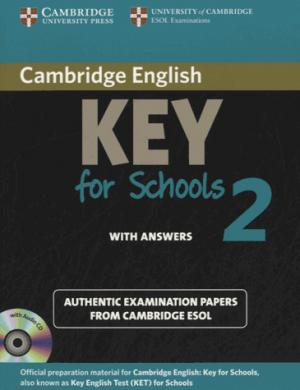 Cambridge English Key for Schools 2 - Self-study Pack (Student's Book with Answers and Audio CD) Authentic Examination Papers from Cambridge ESOL - cambridge - 9781107603172 -