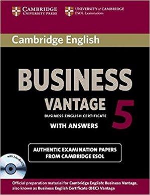 Cambridge English Business 5 Vantage - Self-study Pack (Student's Book with Answers and Audio CDs (2)) - cambridge - 9781107606937 -
