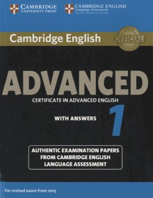 Cambridge English Advanced 1 for Revised Exam from 2015 - Student's Book with Answers Authentic Examination Papers from Cambridge English Language Assessment - cambridge - 9781107653511 -