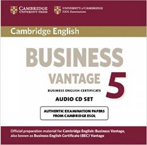 Cambridge English Business 5 - Vantage Audio CDs (2) - cambridge - 9781107654723 -