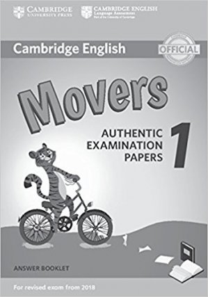 Cambridge English Movers 1 for Revised Exam from 2018 - Answer Booklet Authentic Examination Papers - cambridge - 9781316635940