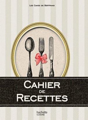 Cahier de recettes - Hachette - 9782012383852 -