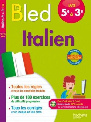 Cahier Bled - Italien LV2 5e-4e-3e - hachette - 9782012903449 -