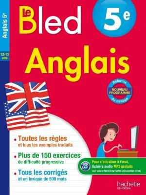 Cahier Bled - Anglais 5E - hachette - 9782012903661 -