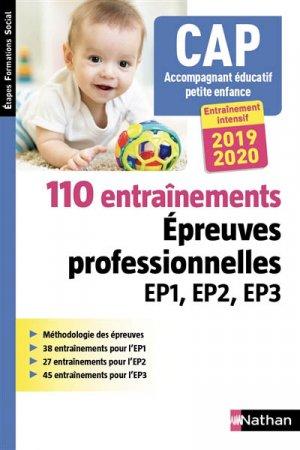 CAP accompagnant éducatif petite enfance : 50 sujets d'entraînement EP1, EP2, EP3 - nathan - 9782091652375 -