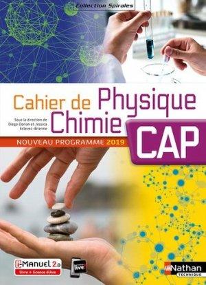 Cahier de Physique Chimie CAP - Nathan - 9782091654058 -