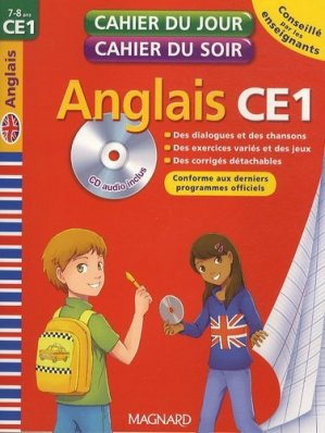 Cahier du jour Cahier du soir Anglais CE1 - Magnard - 9782210750616 -