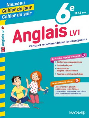Cahier du jour/Cahier du soir Anglais 6e - magnard - 9782210762398 -