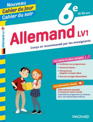 Cahier du jour/Cahier du soir Allemand 6e - magnard - 9782210762435 -